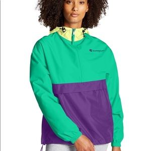 Champion Packable Pullover Colorblocked Jacket NEW